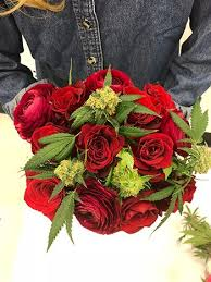 Cannabis Roses bouquet for Valentine's Day