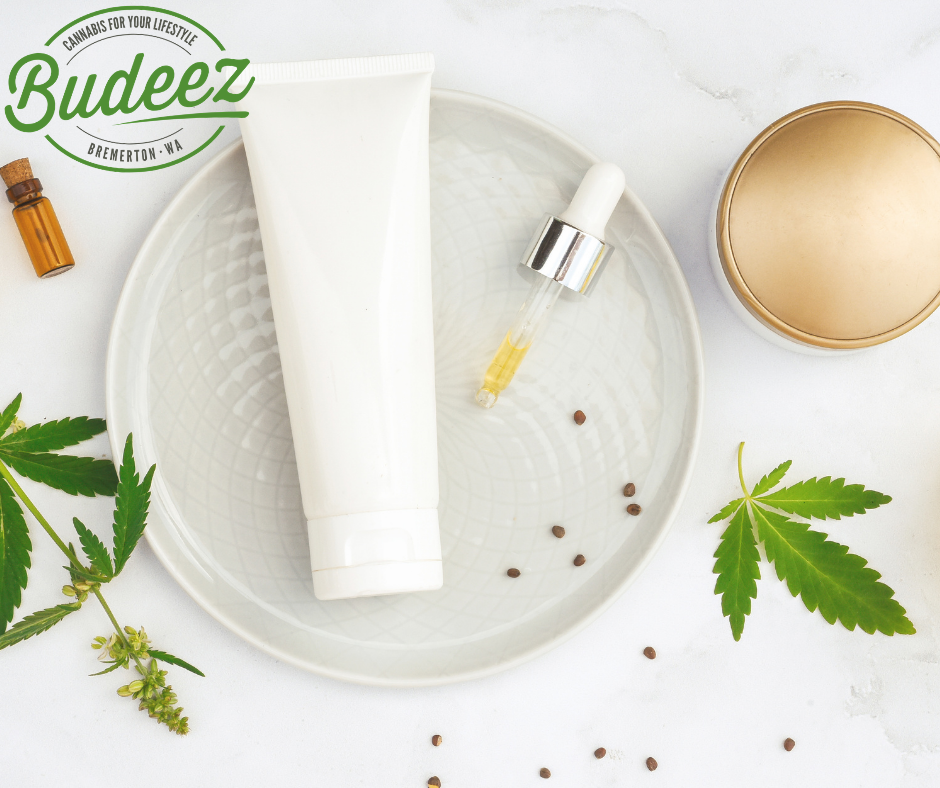 Cannabis infused beauty products for pain relief, eczema, psoriasis, and muscle spasms.